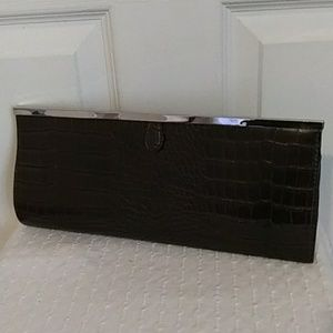 Chinese Laundry Faux Crocodile Leather Clutch